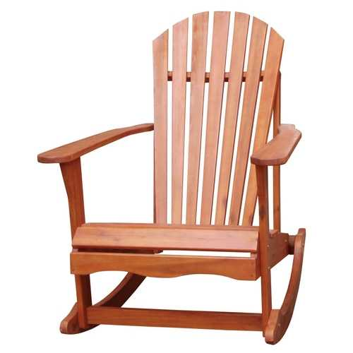 Solid Wood Adirondack Style Porch Rocker Rocking Chair
