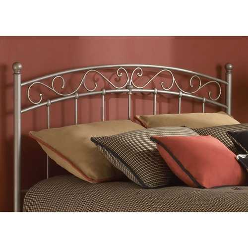 King size Arched Metal Headboard with Cylindrical Posts