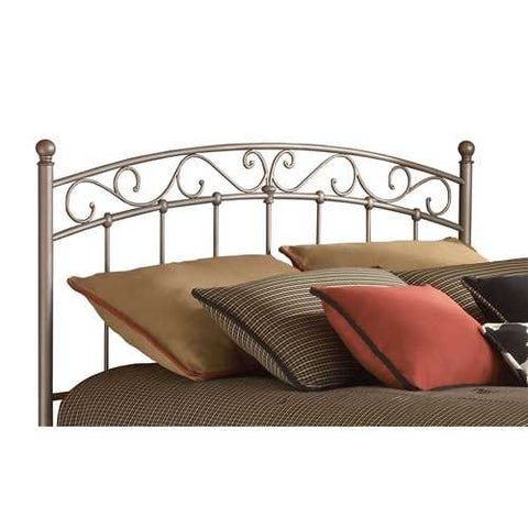 Image of King size Arched Metal Headboard with Cylindrical Posts