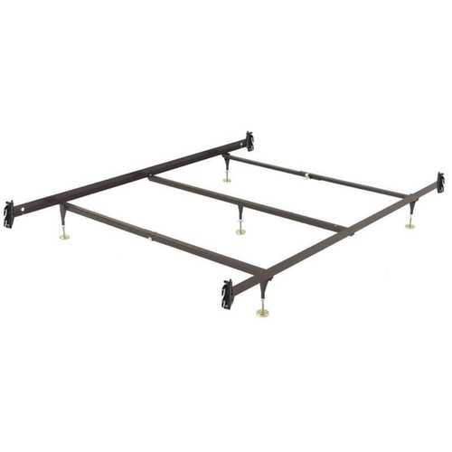 King size Metal Bed Frame with Hook-on Headboard Footboard Brackets