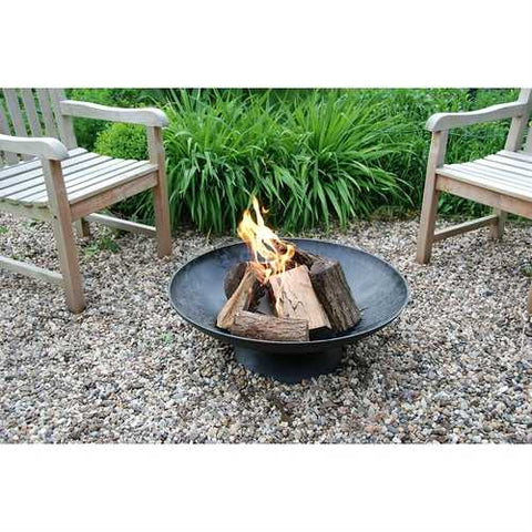 Large 30-inch Cast Iron Fire Pit Bowl