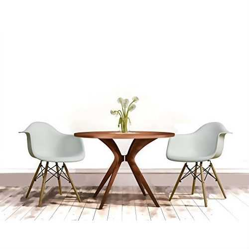 Modern Ergonomic Dining Chair with Arms in White