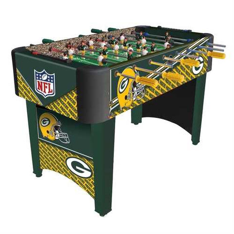 Foosball Table with NFL Green Bay Packers Design