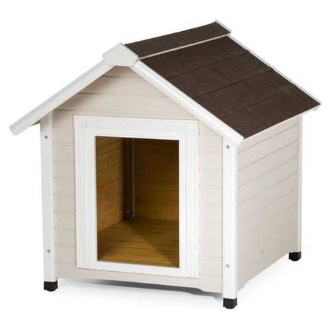 Image of Solid Wood Luxurious Dog House with Classic Asphalt Shingle Roof