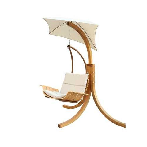 Image of Contemporary Porch Swing Deck Patio Chair with Umbrella