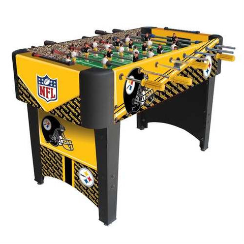 Foosball Table with NFL Pittsburgh Steelers Design