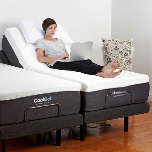 Queen size Adjustable Bed Base with Massage and Wireless Remote
