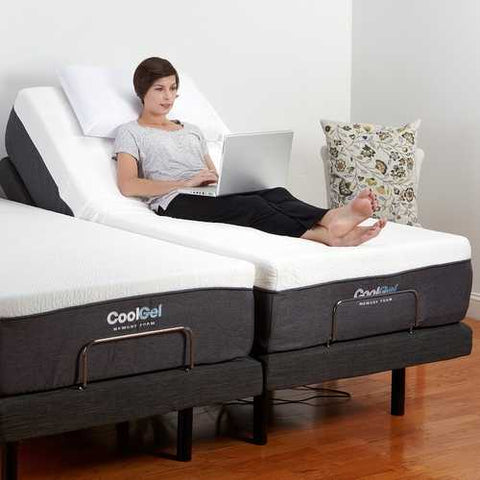 Image of Queen size Adjustable Bed Base with Massage and Wireless Remote