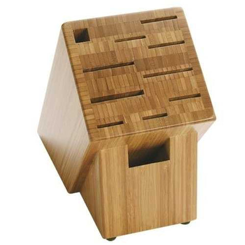 11-Slot Knife Block - Renewable Bamboo - NonSlip Feet