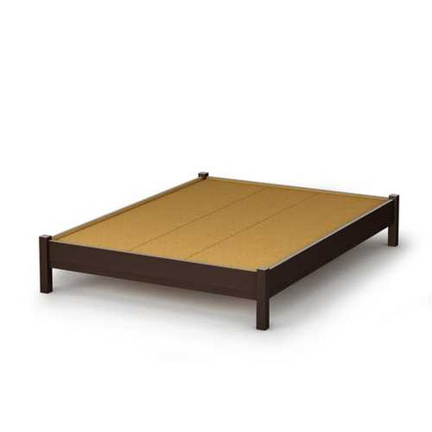 Image of Full size Contemporary Platform Bed in Chocolate Finish