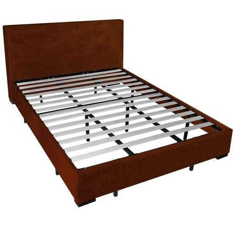 Image of Queen size European Style Platform Bed Frame with Wooden Slats