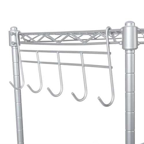 Image of Silver Metal 4-Shelf Wire Shelving Unit Storage Rack