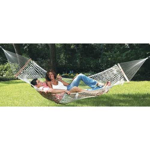 Comfortable Large Cotton Rope Hammock with Carry Bag