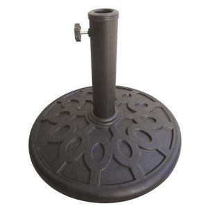 17.6 lb Sturdy Outdoor Resin Umbrella Base in Grey Black FInish