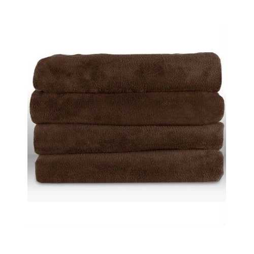 Walnut Brown Cuddle Microplush Heated Electric Warming Throw Blanket