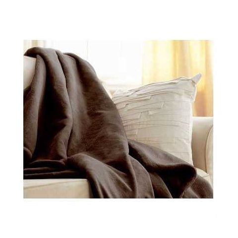 Image of Walnut Brown Cuddle Microplush Heated Electric Warming Throw Blanket
