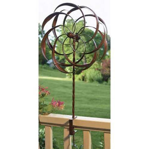 Copper Plated Metal Decorative Yard Garden Accent - Does Not Spin in Wind