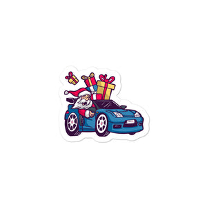 Santa Driving NSX - Bubble-free stickers