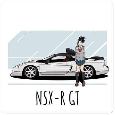 NSXR GT Side with Anime Girl - Bubble-free stickers