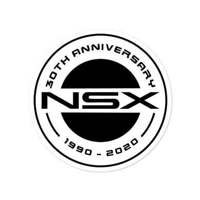 NSX 30th Anniversary White Logo - Bubble-free stickers