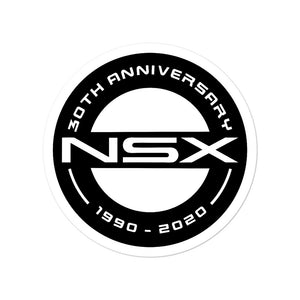 NSX 30th Anniversary Black Logo - Bubble-free stickers