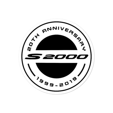 s2000 20th Anniversary White - Bubble-free stickers