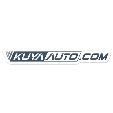 Kuya Auto Logo v2 - Gray - Bubble-free stickers