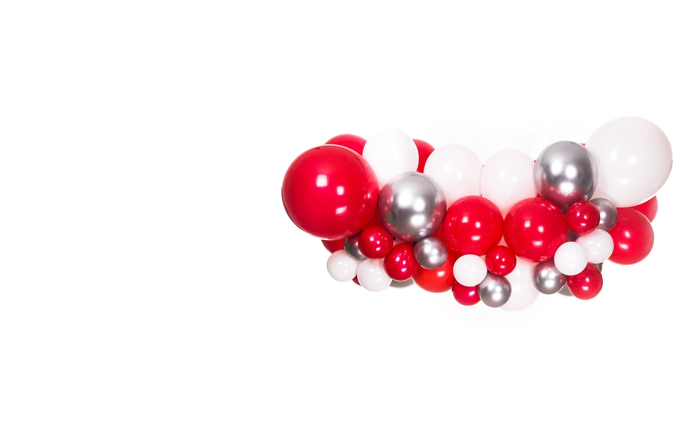 christmas balloon arch and garland kit shimmer and confetti