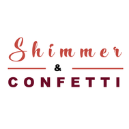 shimmer and confetti logo