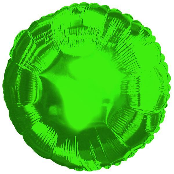 "18"" Green Round Foil Balloon"