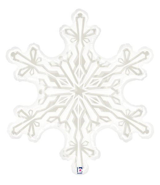 "38"" Clear Shape Clear Snowflake Foil Balloon"