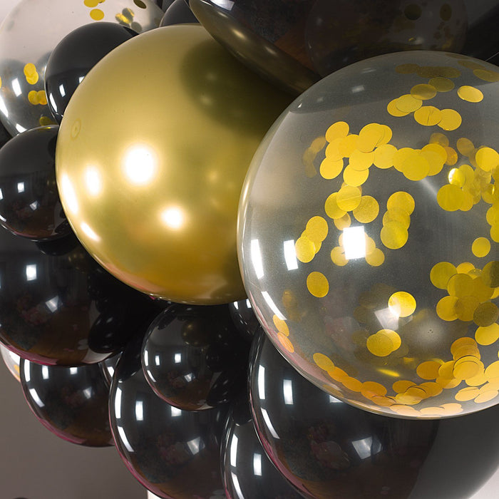 Balloon Garland - Black And Gold Balloon Arch And Garland Kit (5, 10, 16 Foot)