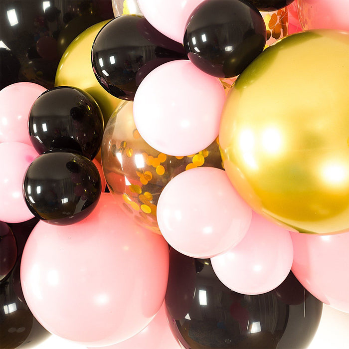 Balloon Garland - Black, Pink And Gold Balloon Arch And Garland Kit (5, 10, 16 Foot)