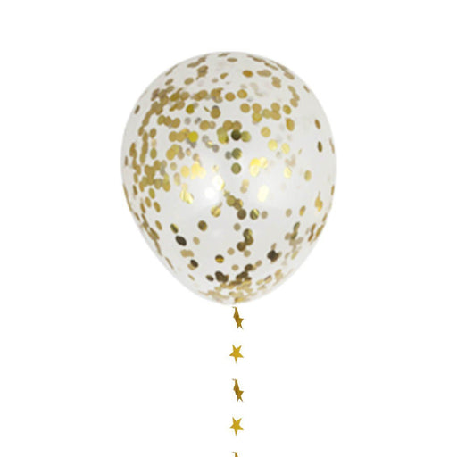 Balloons - 12-inch Gold Confetti Party Balloons