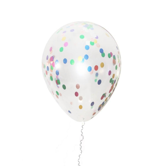 Balloons - 12-inch Multicolor Confetti Party Balloons