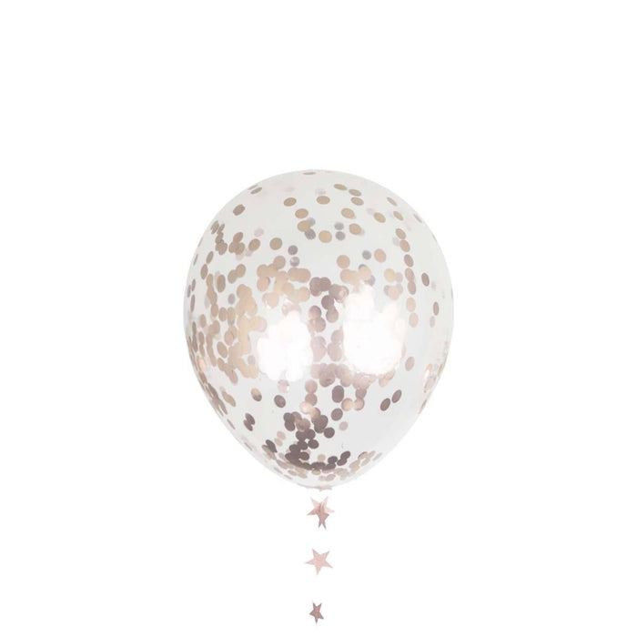 Balloons - 12-inch Rose Gold Confetti Party Balloons