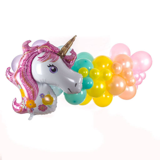 Balloons - 16ft Unicorn Rainbow Balloon Arch And Garland Kit