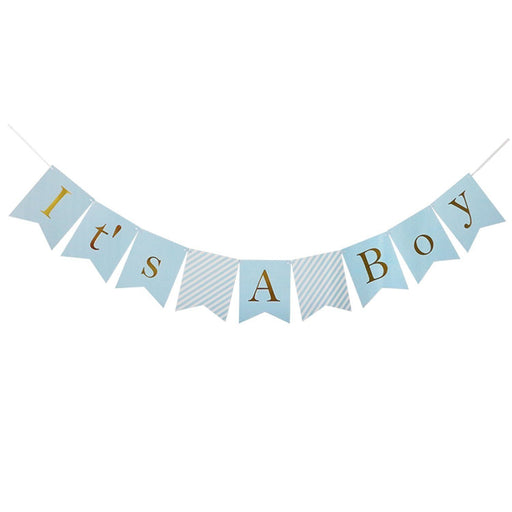 "Balloons - 17pc Blue And White ""It's A Boy"" Baby Shower Decorations For Boy"