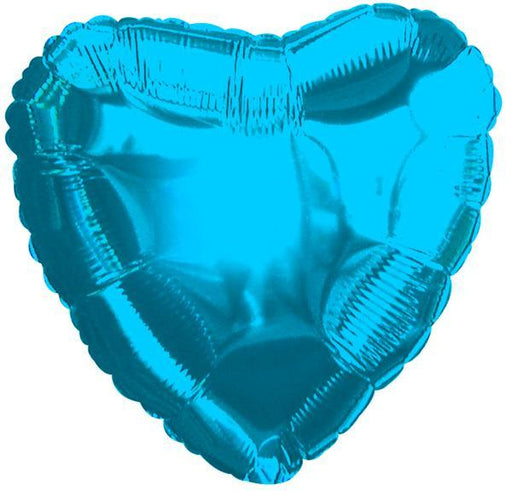 Balloons - 18-inch Blue Heart-Shaped Foil Balloon