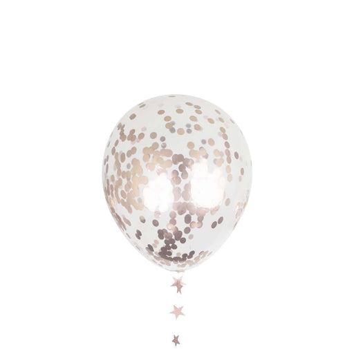 Balloons - 18-inch Giant Rose Gold Confetti Party Balloons