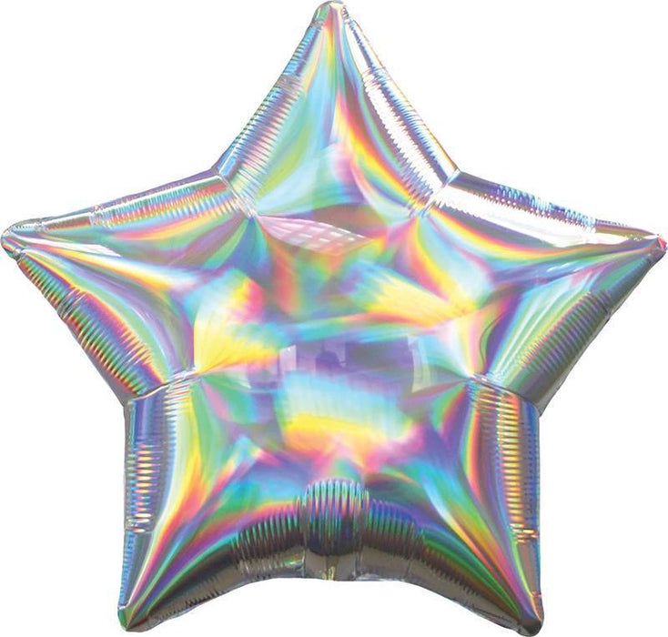 Balloons - 18-inch Iridescent Silver Star-Shaped Foil Balloon