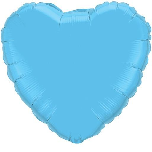 Balloons - 18-inch Pale Blue Heart-Shaped Foil Balloon