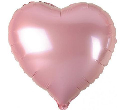 Balloons - 18-inch Pink Heart-Shaped Foil Balloon