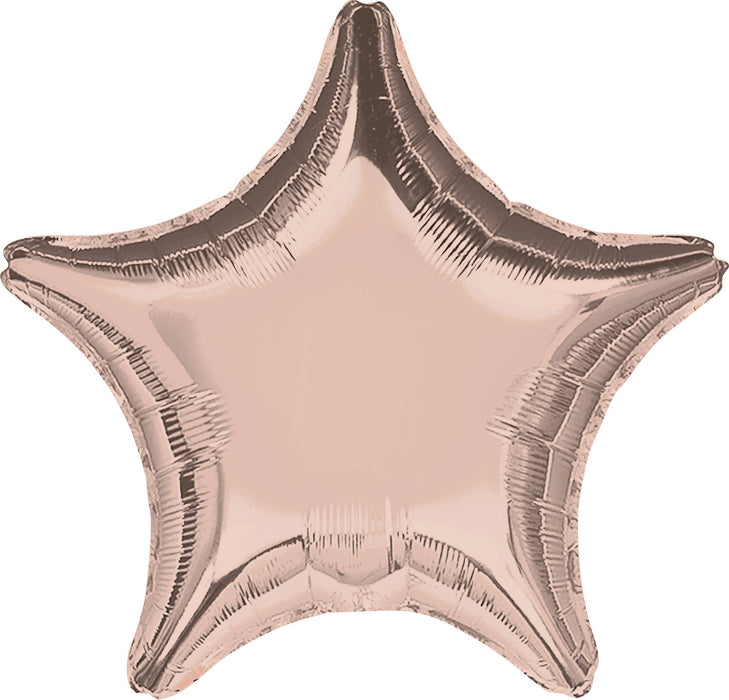 Balloons - 18-inch Rose Gold Star-Shaped Foil Balloon