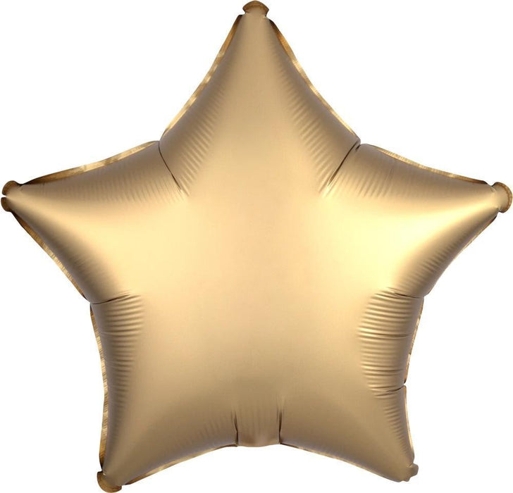 Balloons - 18-inch Satin Gold Star-Shaped Foil Balloon