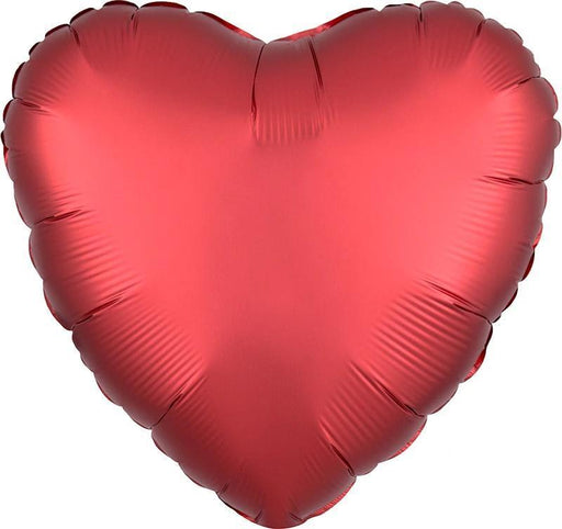Balloons - 18-inch Satin Red Heart-Shaped Foil Balloon