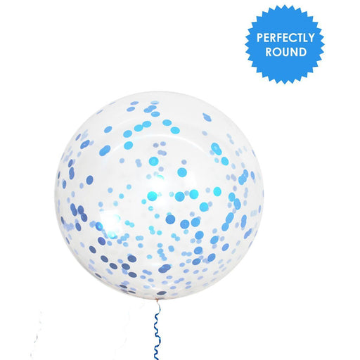 Balloons - 36-inch Giant Blue Confetti Balloons