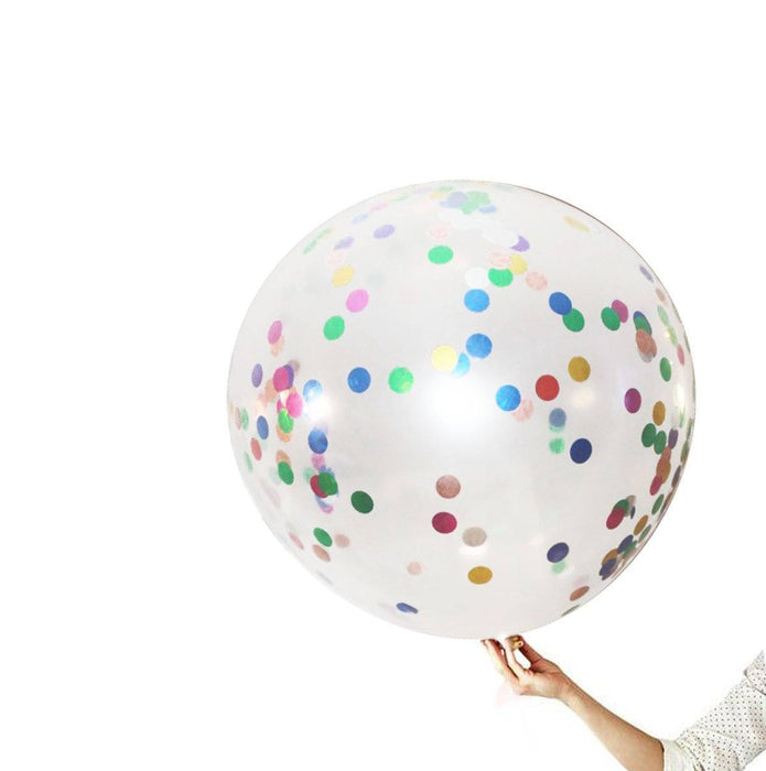 Balloons - 36-inch Giant Multicolor Confetti Balloons 8ct