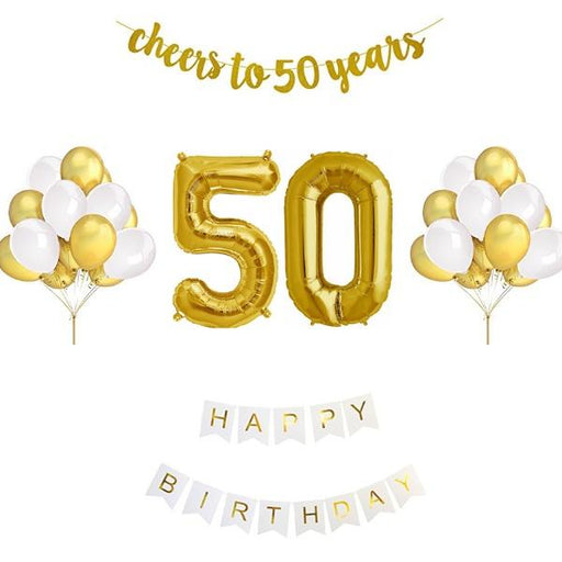 Balloons - 50th Birthday Balloon Decoration Set