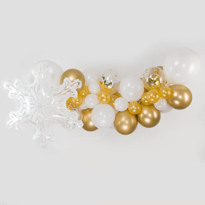 Balloons - White And Gold Balloon Arch And Garland Kit (5, 10, 16 Foot)
